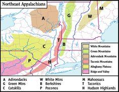 Northeast Appalachian Mountains  Map 23:49, 16 November 2006