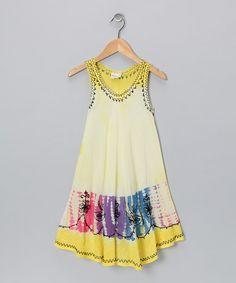 Yellow Rickrack Shift Dress - Toddler & Girls
