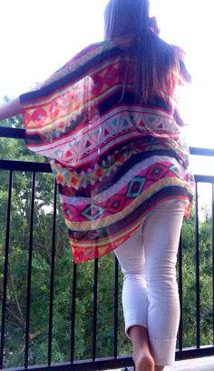 REPIN REPIN REPIN Tribal Kimono Cardigan by MirrorMirrorByNakita on Etsy