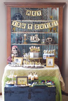 GOONIES Themed Birthday Party {Movie-Inspired}- lots of pirate themed elements to create the look