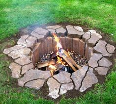 underground fire pit. Only cost $42 to make!! Ooo I'm loving this idea for my house!!
