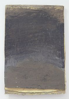 "Lawrence Carroll, Calendar Painting ""dark brown-yellow"""