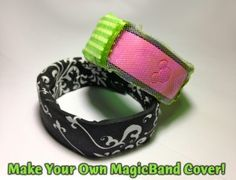 Step-by-step photo tutorial on how to make your own custom CoverBand for your DIsney MagicBand! Includes a no-sew version and a sewn version with a see-through panel for your Mickey sensor.