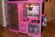 Reese's kitchen from an entertainment center