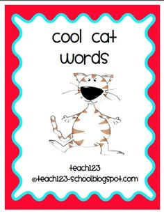 Vocabulary:  Cool Cat Words - FREE
