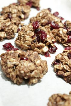 Gluten and Dairy Free Oatmeal Cranberry Cookies