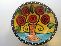 Round Flower Dish ( Flowers design).