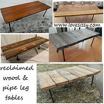 DIY plumbing pipe & upcycled or reclaimed wood tables#1330161/diy-plumbing-pipe-amp-upcycled-or-reclaimed-wood-tables?&_suid=1366416028172025544337903855546