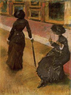 Edgar Degas    In the Louvre 1879    Crayon