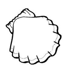 seashell templates printable