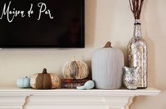 One Mile | Home Style: Neutral Fall Decorating  #falldecor
