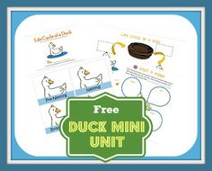 Duck Mini Unit mini duck, duck unit, boston, ducks, educ, duck life cycle, learning activities, duck activities, mini unit