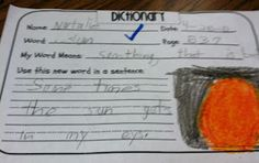 First Grade Fabulous Fish: Dictionary Skills   # Pinterest++ for iPad #