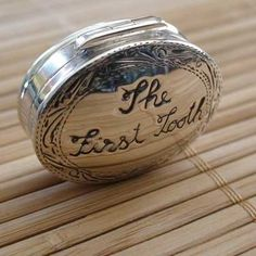 Baby's First Tooth silver keepsake box