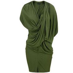 Religion Drape Grecian Vetiver Dress