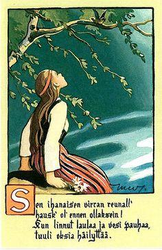 An illustration by Martta Wendelin, a Finnish artist (1893-1886).