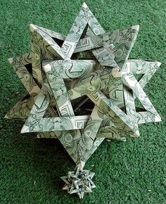 Dollar bill origami.