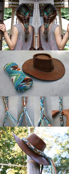 12 Interesting And Useful Daily DIY Ideas, DIY Fishtail Hat Band Daily update on my website: myfavoritediy.net Daily update on my blog: myfavoritediy.net