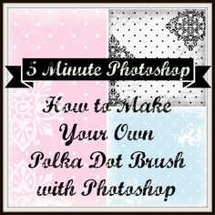 5 minute #photoshop #tutorial at www.indigowingspaperie.com, how to make a #polka dot Photoshop brush plus some #free #digital #patterned #paper