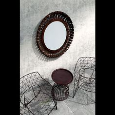 Reflect on your décor with the rustic Drum Mirror, adding an Arcadian feel to your space.