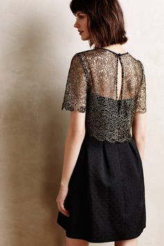 Goldspun Lace Dress - anthropologie.com