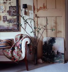 Home of John Derian in New York for Elle Decor. Anita Sarsidi, stylist. Photo William Waldron