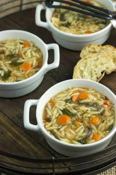 spinach chicken orzo soup.