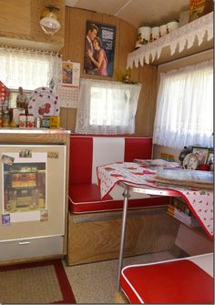Sixties vintage trailer interior