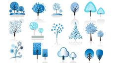 Beautiful Winter Trees Vector @freebievectors http://www.freebievectors.com/en/illustration/646/winter-trees-vector/