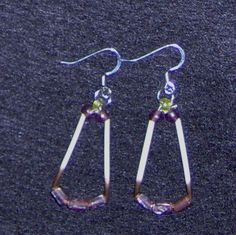 Earrings / Porcupine quill and beads by HandCraftedMinds on Etsy, $7.50
