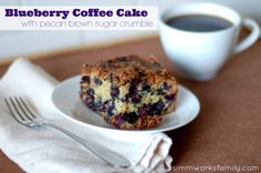 Blueberry Coffee Cake with Pecan Brown Sugar Crumble #recipe