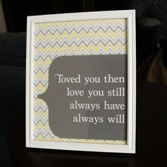 #love note idea - #Homemade boyfriend gift idea! Love you then still always will  yellow white by papersoulstudios, $15.00
