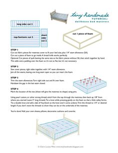 dollhouse mattress tutorial by tiny handmade - blog full of dollhouse ideas