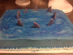 cake decor, shark cake