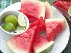 Watermelon soaked in tequila and dipped in coarse salt...keep away from the kids!1