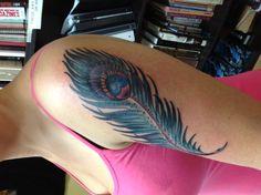 Lovely girlish blue arm tattoo #arm #girl #tattoo