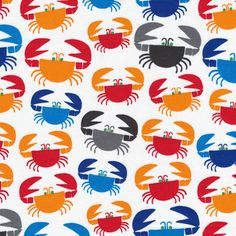Crabs :: Ed Emberley's Happy Drawing, Too from Cloud9 Fabrics