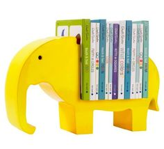 Bookshelf Elephant Lemon by DwellStudio