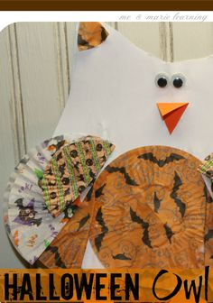 halloween owl: fun fall craft for kids | guest post by @Ashley Merrick-Rives on teachmama.com #weteach