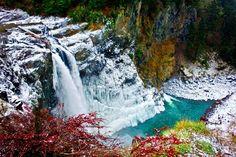 snoqualmie falls, WA.. frozen
