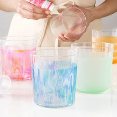 Glass Painting - Colorful Glass Tumblers