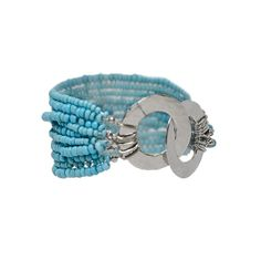 Carol Dauplaise Seed Bead Bracelet from LittleBlackBag.com :: Turquoise :: Seed :: Silver :: Bracelet