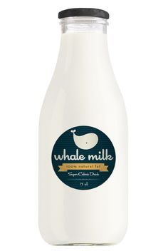 // whale milk by Alessio Sabbadini, via Behance