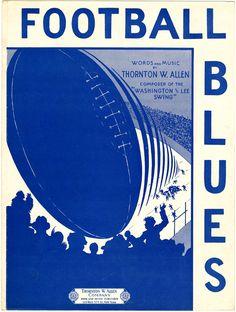Football Blues sheet music, 1929