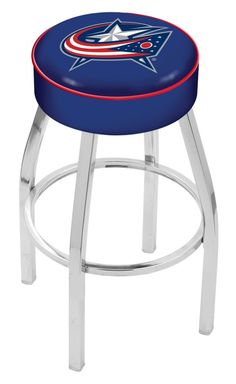 "Use this Exclusive coupon code: PINFIVE to receive an additional 5% off the Columbus Blue Jackets 4"" Seat Bar Stool at SportsFansPlus.com"