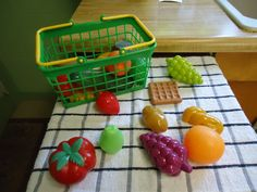 Playing house or playing store also offers opportunities to categorize play food according to color, food group, first letter, not to mention developing vocabulary.