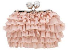So pretty!  Pink clutch