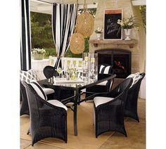 Sunbrella® Awning Stripe Outdoor Drape, 50 x 84
