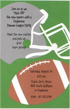 Football party invitation #Ultimate Tailgate and #Fanatics
