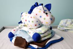 Your little one will love cuddling up with a handmade stuffed animal! Cozy flannel fabric is a natural choice for sew-'em-at-home stuffed animals. We chose a happy star print for our sweet little show pony.